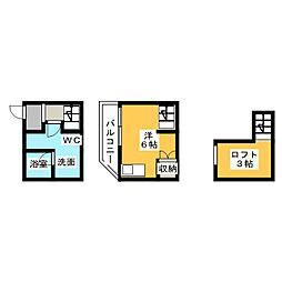 (仮称)南区本城町賃貸アパートB棟[1階]の間取り