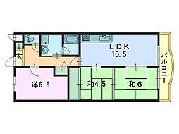 アールコートヤマシロ[4階]の間取り