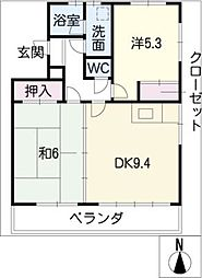 グランデュア小塚[3階]の間取り