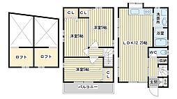 [一戸建] 大阪府高槻市真上町1丁目 の賃貸【/】の間取り