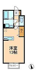 千葉県松戸市三ケ月の賃貸アパートの間取り
