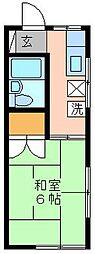 チェルキオ鎌ヶ谷[1F (角) 105号室]の間取り