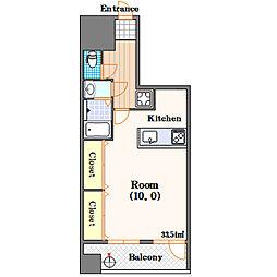 クレア新町[2階]の間取り