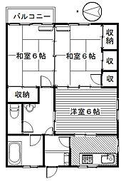 中央ビル[302号室]の間取り