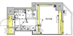 東武伊勢崎線 東向島駅 徒歩7分の賃貸マンション 2階1Kの間取り