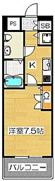 ピュアドームグランテージ博多[3階]の間取り