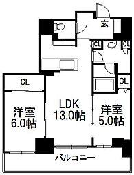 クリオ札幌北1条[302号室]の間取り