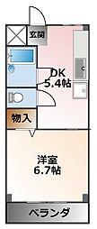 メゾンプチ甲子園[2階]の間取り