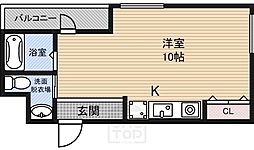 ロジス江坂[4階]の間取り