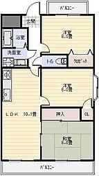 オーガストプラザ[3階]の間取り