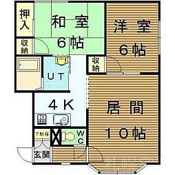 北海道札幌市東区北二十五条東2丁目の賃貸アパートの間取り