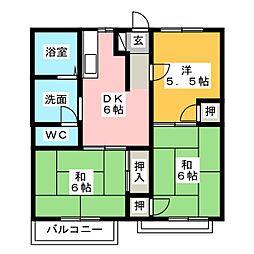 ホワイトタウン21 B棟[2階]の間取り
