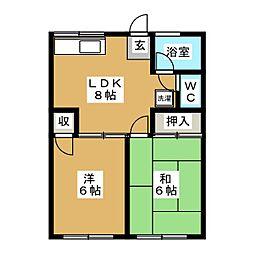 シティハイムゴノヘ[2階]の間取り