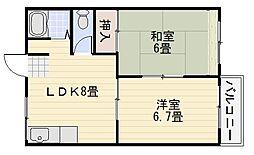 キタノマンション[205号室]の間取り