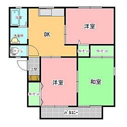 名木内コートA[201号室]の間取り