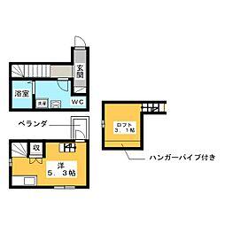 LE COCON豊[1階]の間取り