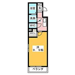 サンライズ 12[1階]の間取り