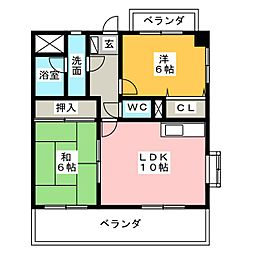 APPLE TOWN SAKURAI[7階]の間取り