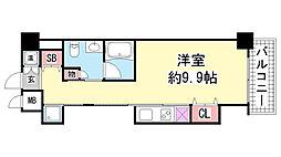 レジディア神戸磯上[11階]の間取り