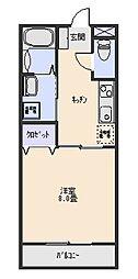 三和伊勢崎[2階]の間取り