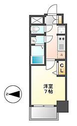 プレサンス上前津フィット[6階]の間取り