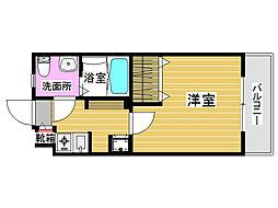 福岡県福岡市城南区別府4丁目の賃貸マンションの間取り