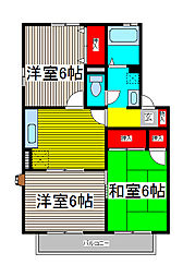エステートUIII[1階]の間取り