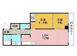 ノーブル上野坂[3階]の間取り