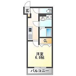 JR東海道・山陽本線 塚本駅 徒歩7分の賃貸アパート 1階1Kの間取り
