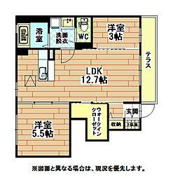 福岡県北九州市八幡西区馬場山東2丁目の賃貸アパートの間取り