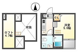 casa上坂[2階]の間取り