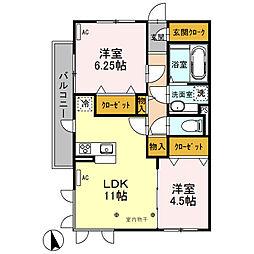 (仮)オッツ天川大島町[105号室]の間取り