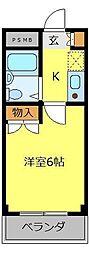 ラフォーレ柳瀬川[2階]の間取り