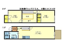 KITANO HOUSE[E号室]の間取り