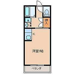 宮崎県宮崎市大字熊野の賃貸マンションの間取り