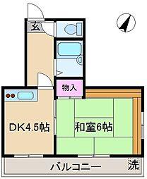 ハウスバンブー[3階]の間取り
