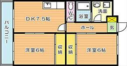 コーポ蘭[2階]の間取り