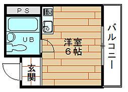 オーシャンハイツ此花[4階]の間取り