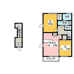 MO−V B[2階]の間取り