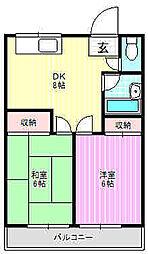 永本マンション[4階]の間取り