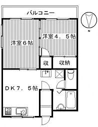 昭和コーポ前橋B棟[306号室号室]の間取り