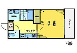 リリック東中野[302号室]の間取り
