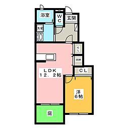 プラシードI・II[1階]の間取り
