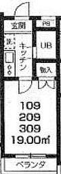 三光町マンション[1階]の間取り