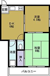 第一草薙ビル[4階]の間取り
