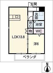 仮)四軒家マンション[2階]の間取り