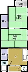 [テラスハウス] 大阪府大阪市港区弁天5丁目 の賃貸【/】の間取り