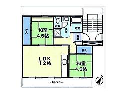 埼玉県上尾市本町4丁目の賃貸マンションの間取り