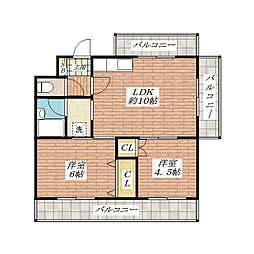 ホワイトプラザ[1階]の間取り