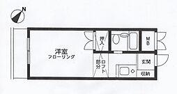 プチコーポ第3[303号室]の間取り